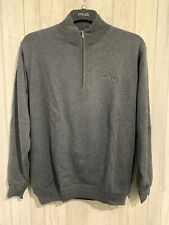 "NEW Ping Lined 1/4 Zip Sweater Windproof Smoke Medium RRP £80 46"" Chest"