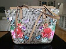 Nine West Floral Butterfly Monogram Shoulder Bag Handbag. Excellent Shape.