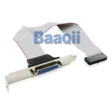 Serial Port D-Sub DB25 to 26-Pin Connector w/ Bracket/ Slot-Blende Parallel BL