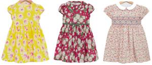 TROTTERS GIRLS DRESS -  YELLOW DAISY/CARLINE ROSE & CATHERINE ROSE DRESS - New