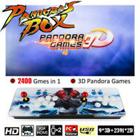 3D Pandora's Box 2400 Games in 1 Retro Arcade Video Game Double Stick Console US