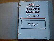 Service manual  MERCRUISER Bravo Stern Drive Unit (ONE Transom Assembly)