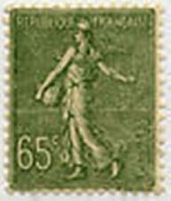 "FRANCE STAMP TIMBRE 234 "" SEMEUSE LIGNEE , 65 C OLIVE "" NEUF xx TTB"