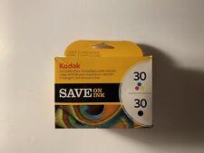 Kodak 30 Black & 30 Tri-Color Ink Combo Pack Cartridges Cart Sealed Box Open