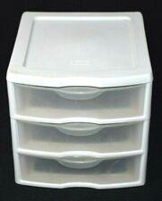 Sterilite Small 3 Drawer Storage Unit White Sterilite Drawers Organizer