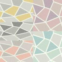 Fine Decor Arendal/Nova Geometric Metallic Wallpaper Asst Colours