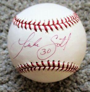 LUKE SCOTT Signed Rawlings MLB Baseball - HOUSTON ASTROS, BALTIMORE ORIOLES