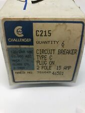 C215 Challenger Double Pole 15 Amp Circuit Breaker New