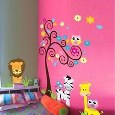 DIY Animal Owl Zebra Lion Tree Wall Stickers Home Decals Decor Mural Decorative