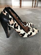 Alaia Pony Hair Pump With Black Python Leather $1299!