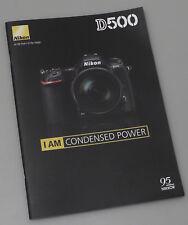 PRL) NIKON D500 CATALOGO DEPLIANT FOTOCAMERA DIGITALE REFLEX BROCHURE DSLR SPECS