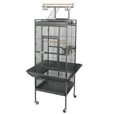 """61"""" Large Bird Cage Pet Play Top Parrot Parakeet Bird Finch w/ Perch Stand Steel"""