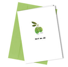 Greetings Card Olive You Comedy Rude Funny Humour Fathers Day or Birthday #195