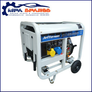 JEFFERSON 5.0kW 10hp DIESEL GENERATOR ELECTRIC START COPPER WOUND ALTERNATOR