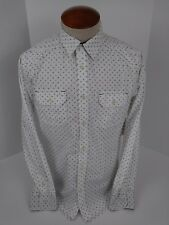 NWT Black Jack Men's White Western Long Sleeve Button-Front Shirt Size M