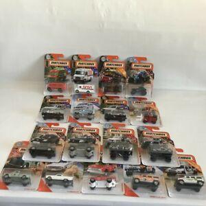 MATCHBOX ASSORTED TRUCKS & SUVs LOT OF 17