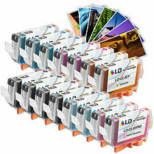 LD Canon Compatible CLI8 17PK: 4 CLI8BK/ 3CLI8C/M/Y/2 CLI8PC/PM+ 4X6 Photo Paper