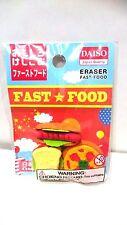 DAISO Fun Eraser Fake Food 『Fast Food』 Made in Japan