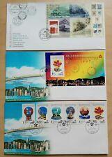 Hong Kong 1997 Return to China Stamps & SS on 3 FDC 香港回归中国邮票小型张纪念首日封(三个)