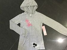 NWT Juicy Couture New & Gen. Grey Long Sleeved Cotton Hoody & Logo Girls Age 8