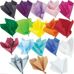 50 sheets Tissue paper for gift wrapping multi colour. Fast Dispatch. UK stock.
