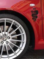 PEGATINA SERPIENTE ALFA ROMEO STICKER DECAL147 GTV SPIDER GT 159 BRERA GIULIETTA