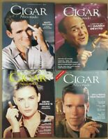 Cigar Aficionado Magazines Lot of 4 1996 -1997 Demi Moore Arnold Danny Matt