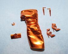 BURNT Orange Copper Gold Dress BARBIE Evening Wear - w/ Heels Purse Earrings