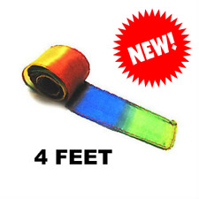 New! Magic Trick Rainbow Streamer for Thumb Tip - 4 Feet Long by 2 Inches Wide