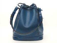 Louis Vuitton Authentic Epi Leather Blue Noe Tote Shoulder Bag Auth LV