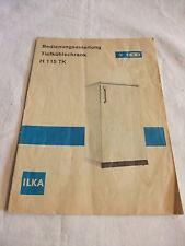 DDR Reklame Bedienungsanleitung ILKA Tiefkühlschrank H 115 TK VEB Kältetech 1984