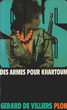 Livre poche policier SAS des armes pour Khartoum n°63 G.De Villiers book