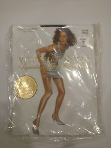 Victoria's Secret Signature Gold Glossy Smooth Sheer to Waist Pantyhose Black S