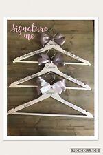 wedding hangers/ bridal party / bridesmaid / bride personalised