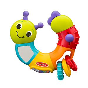 Infantino Topsy Turvy Twist and Play Caterpillar Rattle