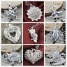 Women's 925 Silver Filled Wedding Charm Gift Pendant Necklace Heart Jewelry