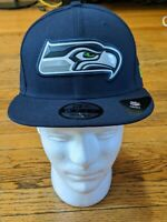 SEATTLE SEAHAWKS NFL NEW ERA 9FIFTY NAVY SNAPBACK HAT CAP One Size Fits Most