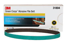 3M 31804 - 3Ma?? Green Corpsa?? Abrasive File Belt 31804 1/2 in x 18 in 80 20 be