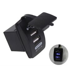 Car Boat Dual USB Charger ARB Rocker Switch Carling Backlit 12-24V Waterproof