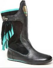 Pastry Love Choco Womens Lady Black-Turquoise Winter Casual Boot Size 10