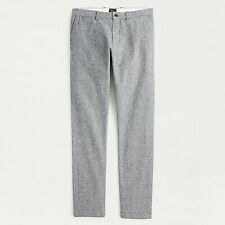 JCrew 484 SLIM-FIT PANT IN STRETCH BRUSHED TWILL 33x32 Gray