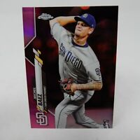 Michel Baez 2020 Topps Chrome PINK Refractor ROOKIE RC San Diego Padres #187