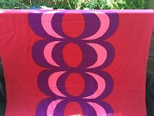 "Marimekko red Kaivo satin fabric, 94"" long, 58"" wide, from Finland"
