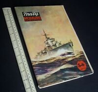 1980s Vintage Maly Modelarz Poland Cut-Out Paper Model Kit. Destroyer Orzel