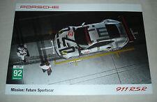 Le Mans 2015 - FIA WEC Du Mans - Porsche AG Team Manthey GTE PRO #92 Signed Card