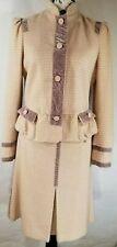 Marc Jacobs Women S 4 8 Skirt Blazer Shirt Jacket Wool Peplum Pink Purple Velvet