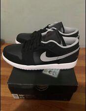 Nike Air Jordan 1 Low Core Black / Wolf Gray size 10
