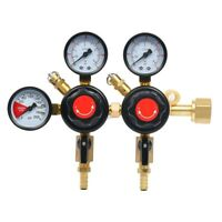 NEW! CO2 Regulator Beer Brewing Kegerator Dual Gauge Valve Joint CGA320 USA