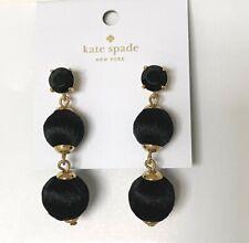 New Kate Spade New York Sumac Linear Graduated Ball Earrings Black