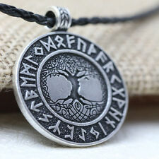 Talisman Tree of Life Runes Amulet Pendant Necklace Nordic Nordic Vikings 18''